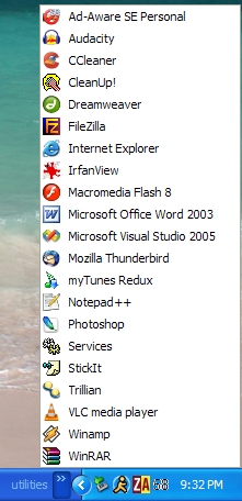 Browse the folder via the Taskbar