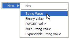 New > String Value